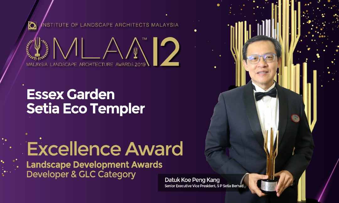 S P Setia wins three awards at the Malaysia Landscape Architecture Awards 2019