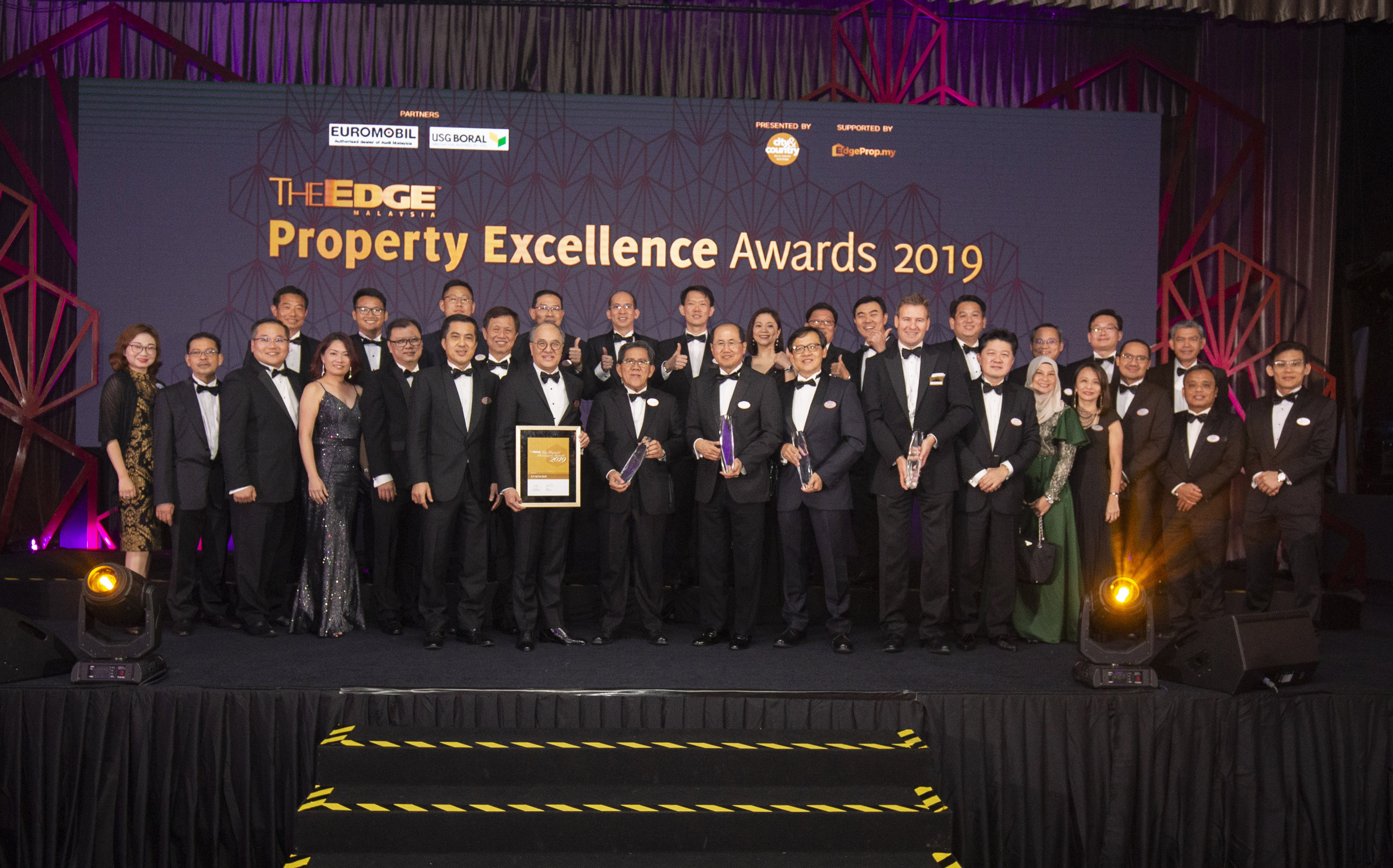 S P Setia Retains No.1 Spot for A Record-Breaking 12th Time at The Edge Malaysia Property Excellence Awards 2019