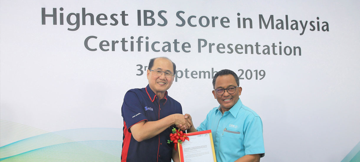 S P Setia receives award for highest IBS score in Malaysia